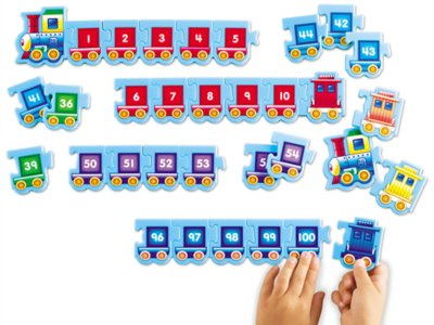 picture relating to Number Flash Cards Printable 1-100 named Sequencing Trains 1-100