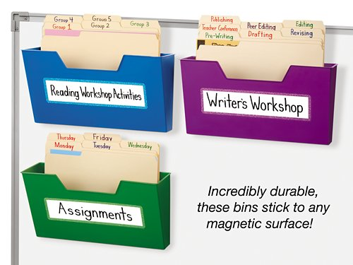 Magnetic Folder Bins Set Of 3 At Lakeshore Learning
