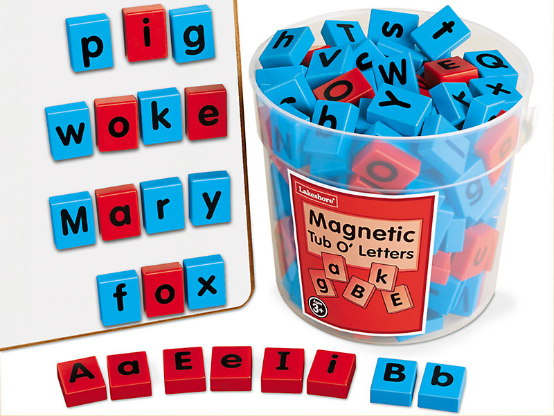 Magnetic Tub O' Letters at Lakeshore Learning