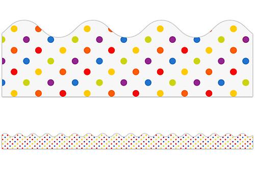 colorful polka dot scalloped border at lakeshore learning