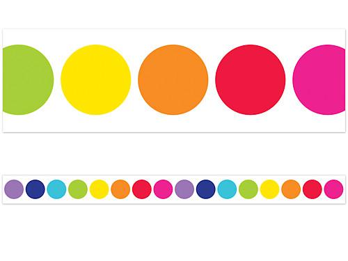 rainbow big dot border at lakeshore learning