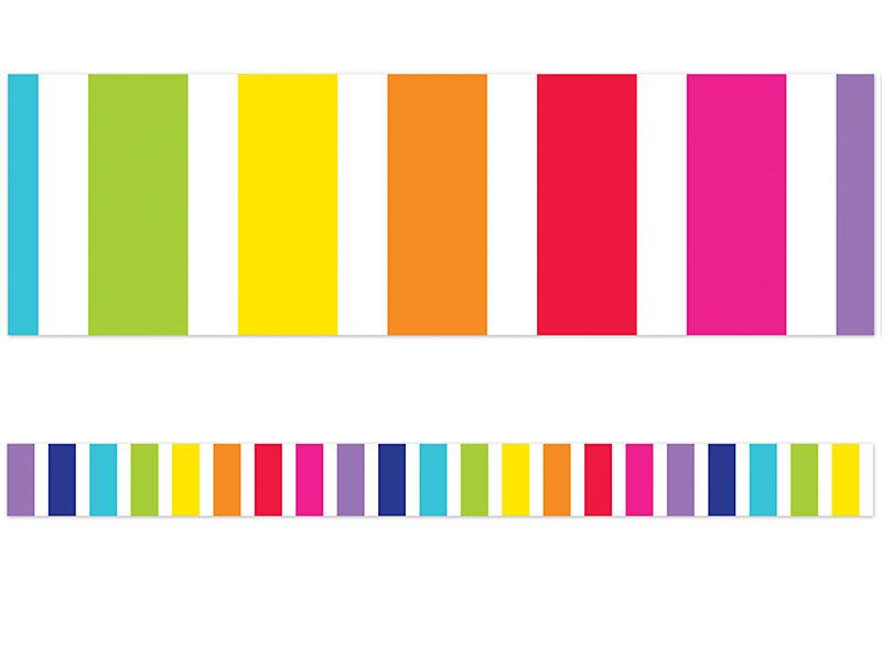 rainbow striped border at lakeshore learning