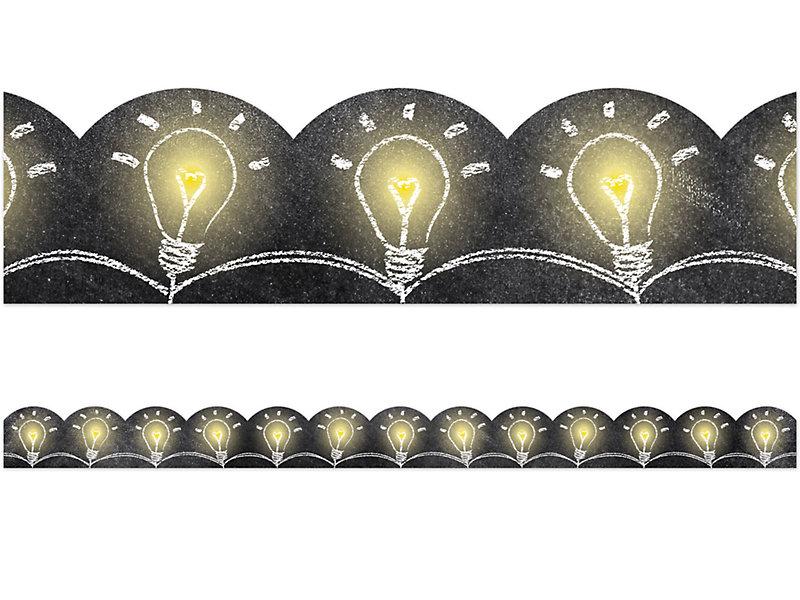 chalk it up light bulb scalloped border at lakeshore learning