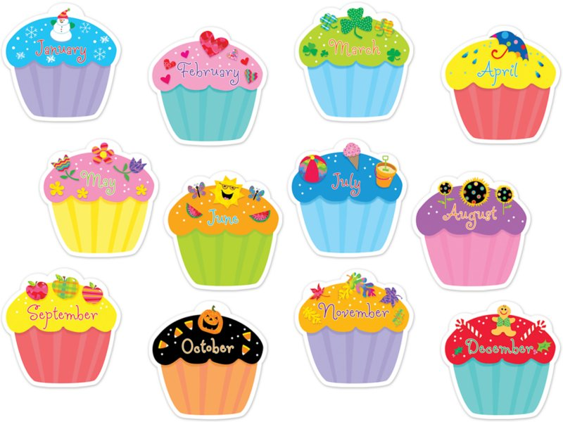 Phenomenal Poppin Patterns Cupcake Calendar Accents At Lakeshore Learning Personalised Birthday Cards Cominlily Jamesorg