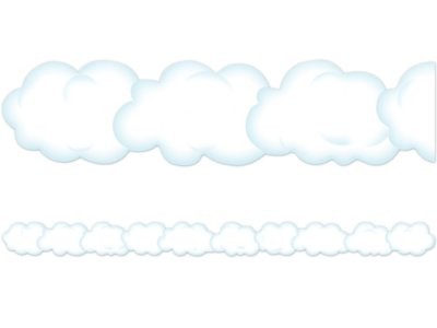 photograph relating to Printable Clouds Cut Out named Cloud Border