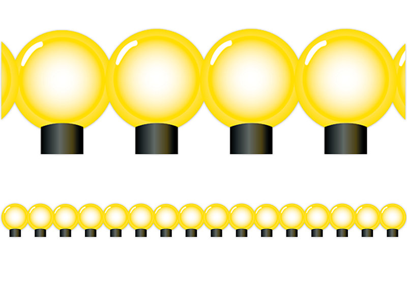 jumbo light bulb border at lakeshore learning