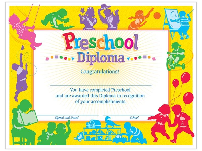 Preschool Graduation Certificates At Lakeshore Learning
