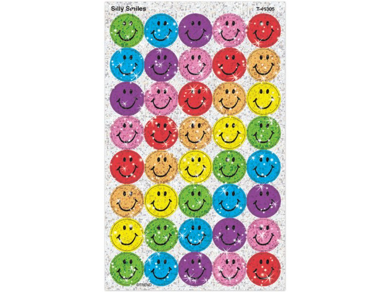 3yrs+ Smiley Faces Reusable Stickers