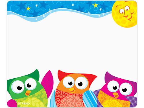 Owl-Stars!® Name Tags