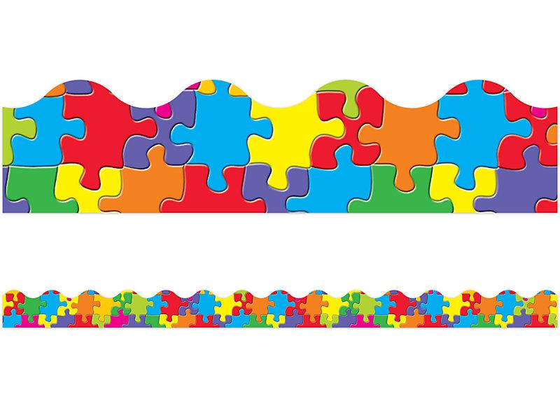Jigsaw Puzzle Scalloped Border at Lakeshore Learning