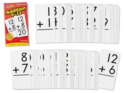photo about Printable Addition Flash Cards 0-12 known as Addition 0-12 Flash Playing cards
