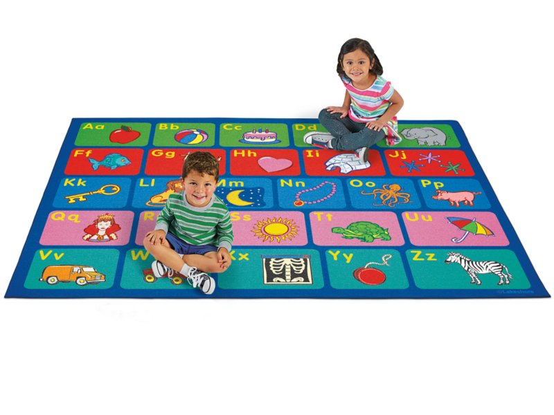 Alphabet Activity Carpet 6 X 9 At Lakeshore Learning