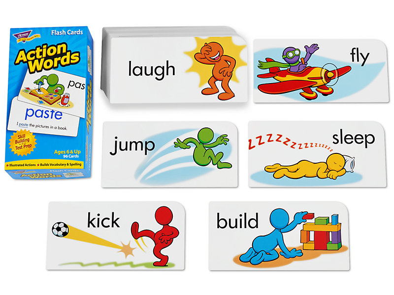 action words flash cards at lakeshore learning