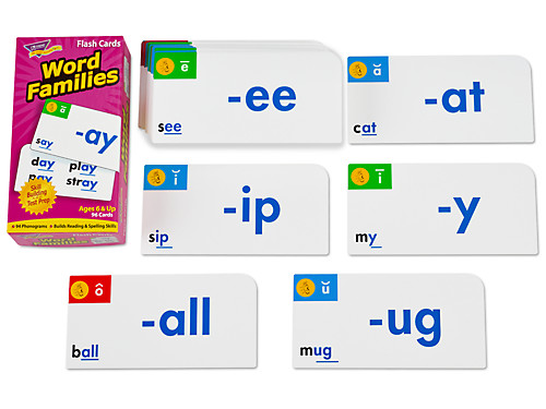 word families flash cards at lakeshore learning