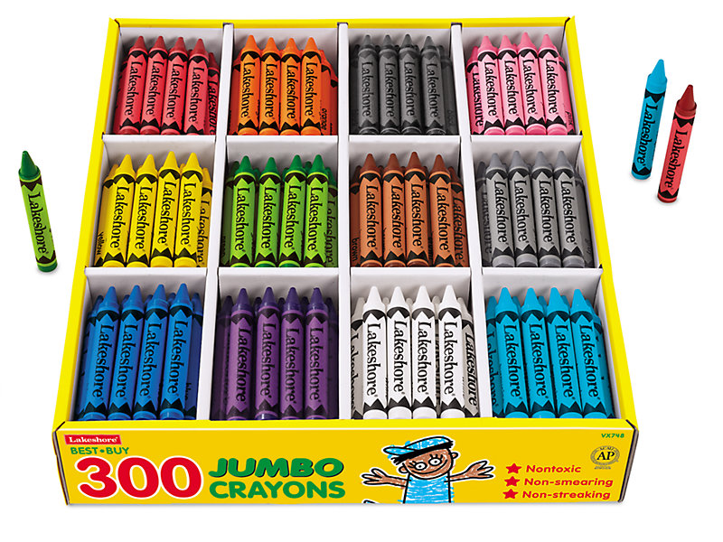 best buy jumbo crayons 12 color box at lakeshore learning