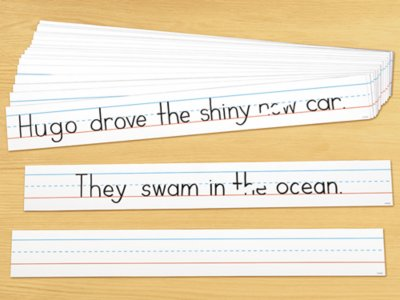 picture relating to Printable Sentence Strips identified as Produce Wipe White Sentence Strips