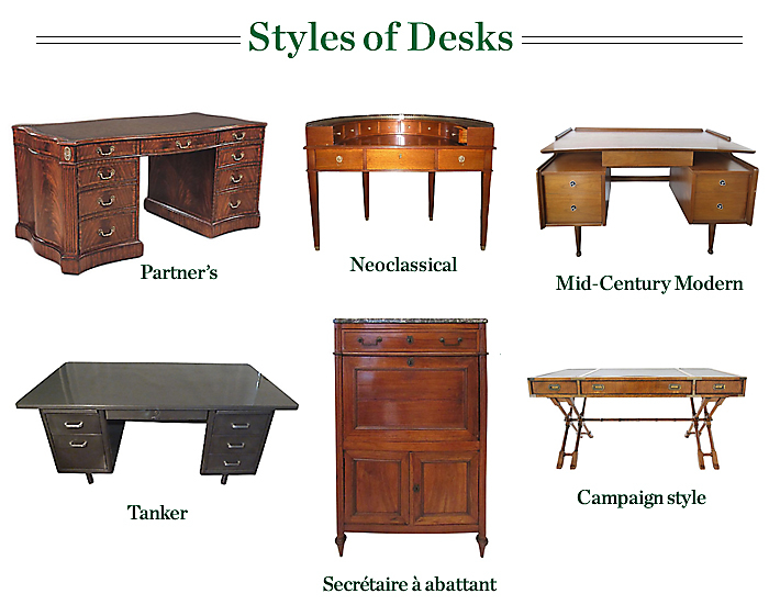 Desk Styles antique desk styles | antique furniture
