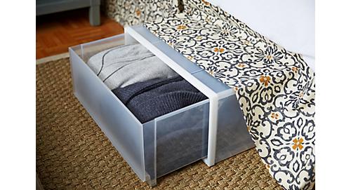 Under Bed Plastic Storage Bins