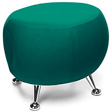 Jupiter Stool with Chrome Legs in Fabric, CH51206