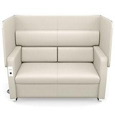 Morph Faux Leather Flip Up Privacy Panel Sofa, CH51272