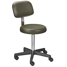 Encompass Vinyl Stool with Backrest and Threaded Stem, CH50629
