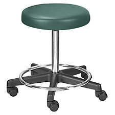 Encompass Vinyl Stool with Footrest and Threaded Stem, CH50630