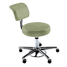 Fabric or Vinyl Hands-Free Stool with Backrest, CH50625