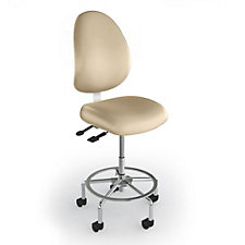 Large Vinyl Task Stool with Backrest , CH50641