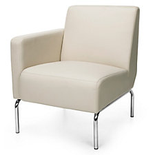 Right Arm Guest Chair with Chrome Legs in Polyurethane, CH51210