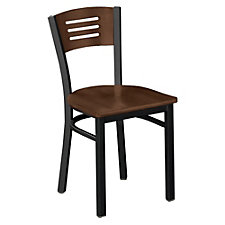 Metal Frame Cafe Chair with Wood Seat and Back, CH03790