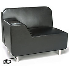 Serenity Polyurethane Right Arm Lounge Chair with Electrical Outlet, CH51205
