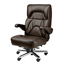 Chairman Genuine and Faux Leather Big and Tall Office Chair , CH51857