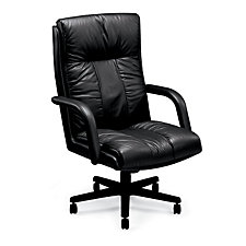 Tufted Leather High Back Chair, CH01006