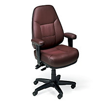Work Smart Bonded Leather Ergonomic Chair, CH01035
