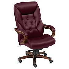 Kingston Traditional Big and Tall Tufted Leather Executive Chair, CH52380