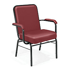 Big and Tall Vinyl Stack Chair with Arms, CH04821