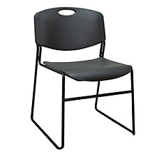 400 lb Weight Capacity Armless Plastic Stack Chair, CH52361
