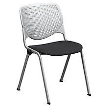 Heavy Duty Poly Back and Vinyl or Fabric Seat Stack Chair - 400 lb Capacity, CH50954