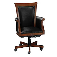 Rue de Lyon Traditional Leather Executive Chair, CH01711