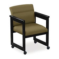 Classic Extended Arm Guest Chair with Casters, CH04418