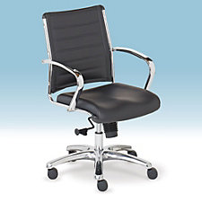 Europa Bonded Leather Mid-Back Task Chair, CH50581