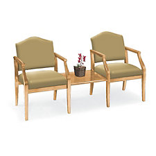 Traditional Two Seat Reception Chair and Center Table Set, CH50392