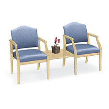 Heavy-Duty Vinyl Guest Chairs with Center Table, CH03449
