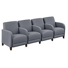 "Four Seater with Center Arms in Fabric - 99.5""W, CH51529"