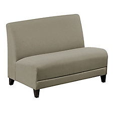 "Faux Leather or Patterned Fabric Armless Loveseat - 44""W, CH51539"