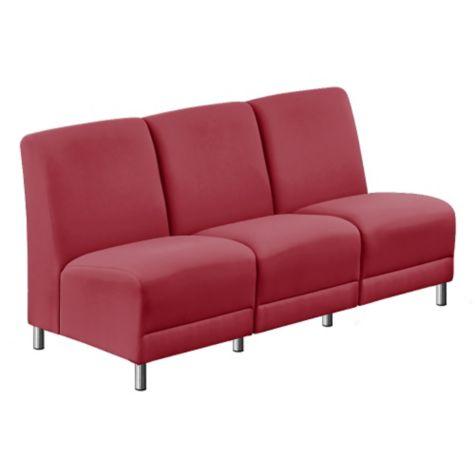 Faux Leather or Fabric Armless Sofa - 64.5\