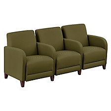 "Faux Leather or Patterned Fabric Three Seater with Center - 75.5""W, CH51542"