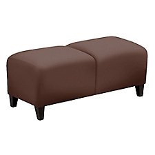 "Leather Two Seat Bench - 43""W, CH51549"
