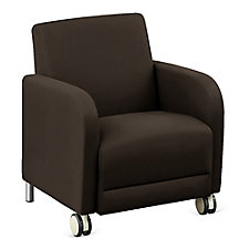 "Leather Guest Chair with Casters - 27""W, CH51551"