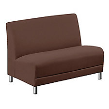 "Leather Armless Loveseat - 44""W, CH51553"